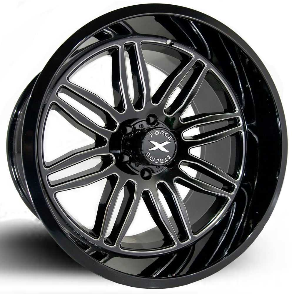 Xtreme Force XF-5  Wheels Glossy Black Milled