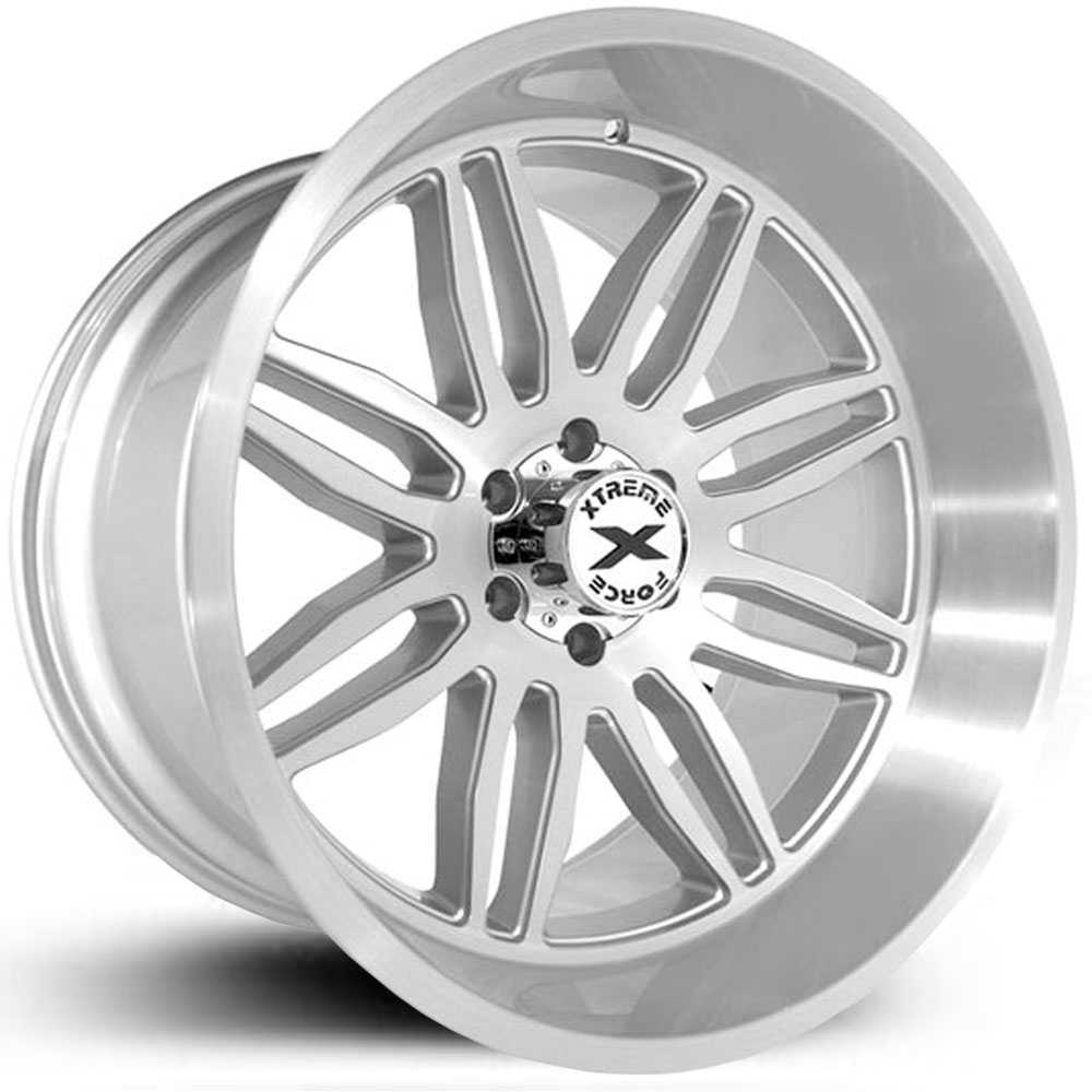 Xtreme Force XF-5  Wheels Silver Full Brushed
