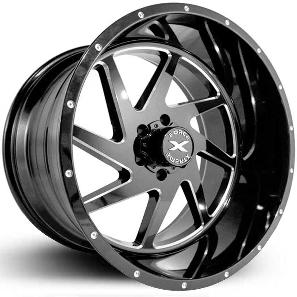 Xtreme Force XF-6  Wheels Glossy Black Milled