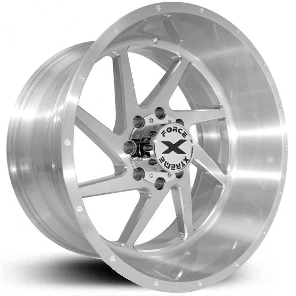 Xtreme Force XF-6  Wheels Silver Full Brushed