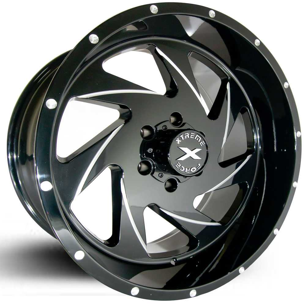 Xtreme Force XF-7  Wheels Black Milled