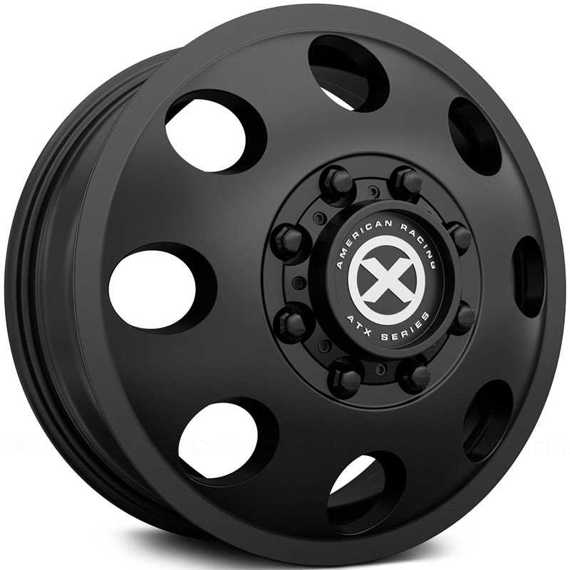 ATX Series AX204 Baja Dually Front  Wheels Satin Black