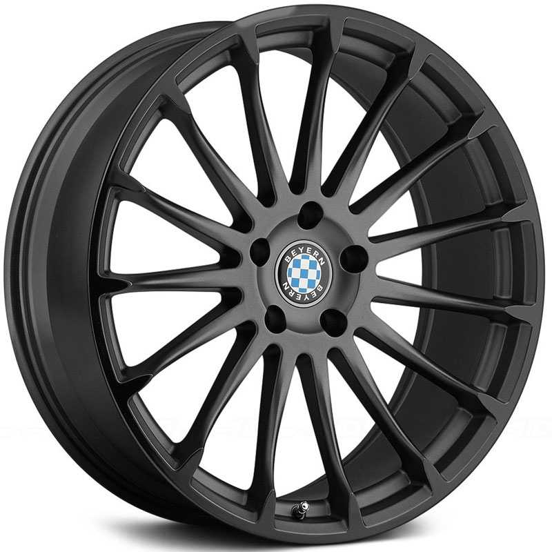 Beyern Aviatic  Wheels Matte Gunmetal w/ Gloss Black Lip