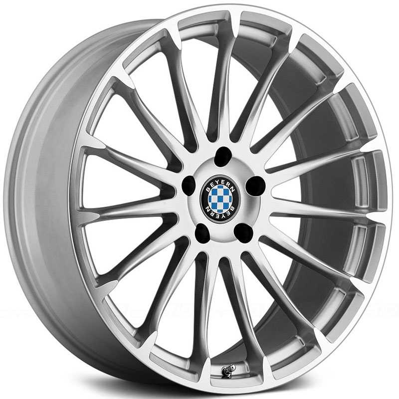 Beyern Aviatic  Wheels Silver w/ Mirror Cut Face