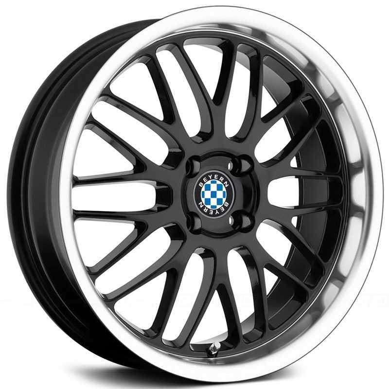 Beyern Mesh  Wheels Gloss Black w/ Mirror Cut Lip