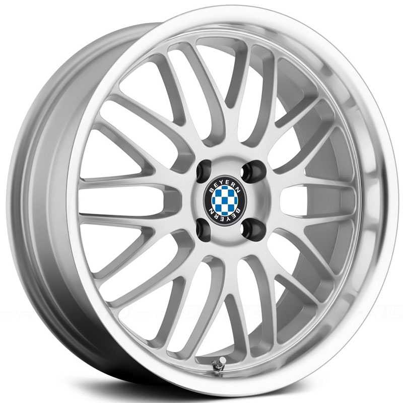 Beyern Mesh  Wheels Silver w/ Mirror Cut Face