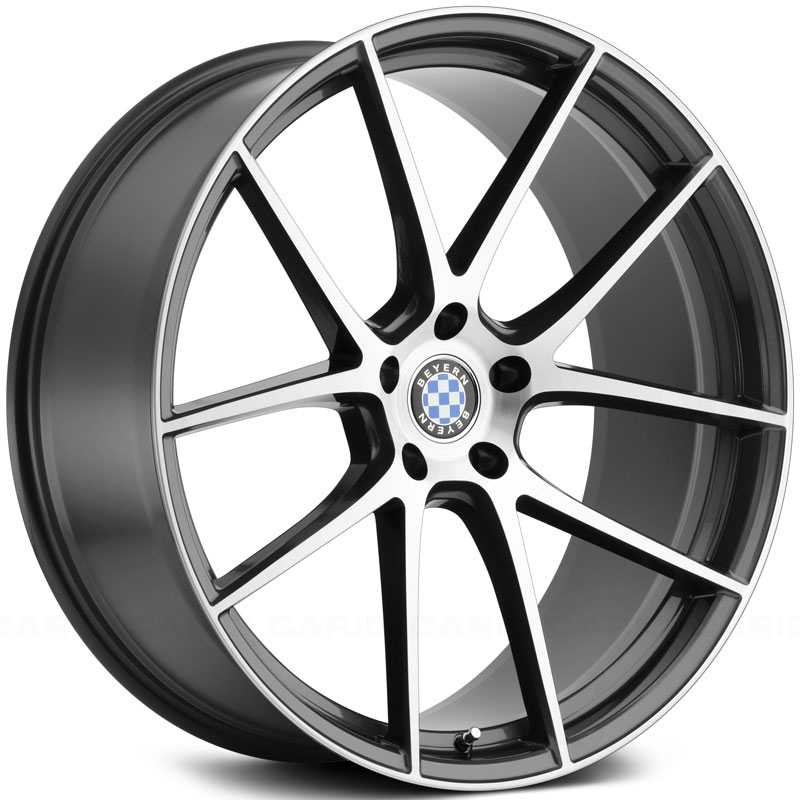 Beyern Ritz  Wheels Gloss Gunmetal w/ Brushed Face