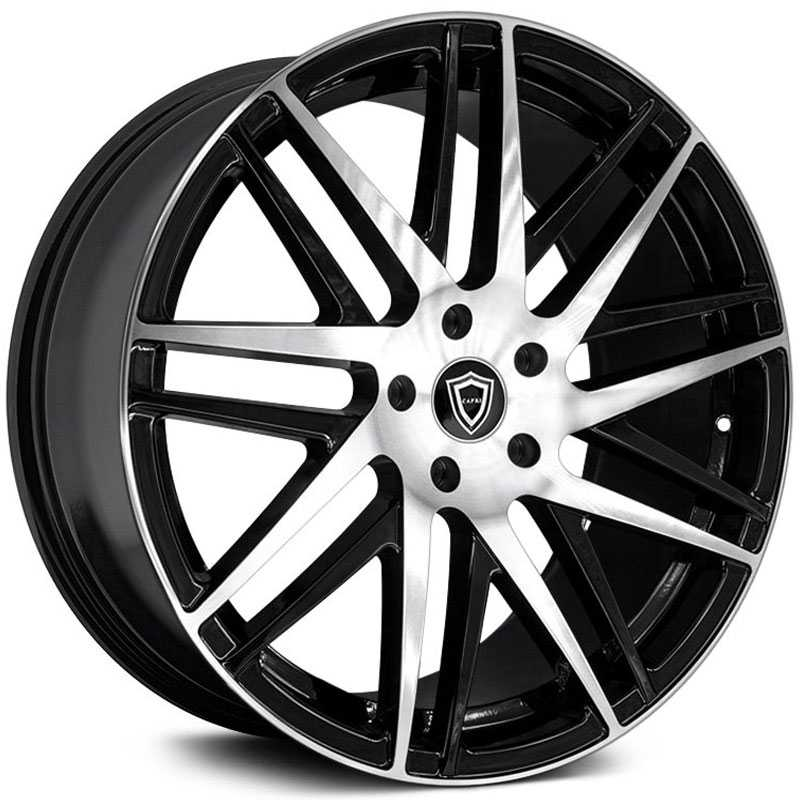 Capri Luxury Capri C0103  Wheels Gloss Black Machine