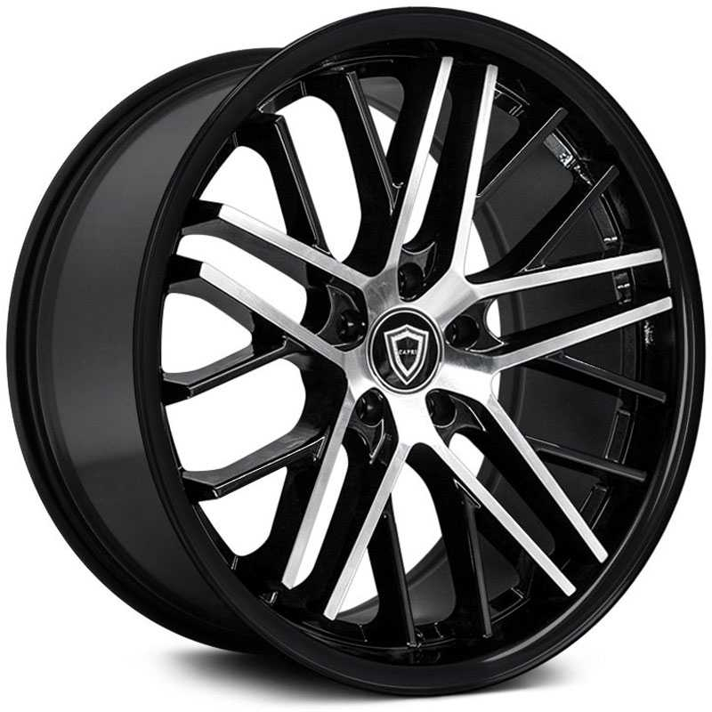 Capri Luxury Capri C0104  Wheels Gloss Black Machine