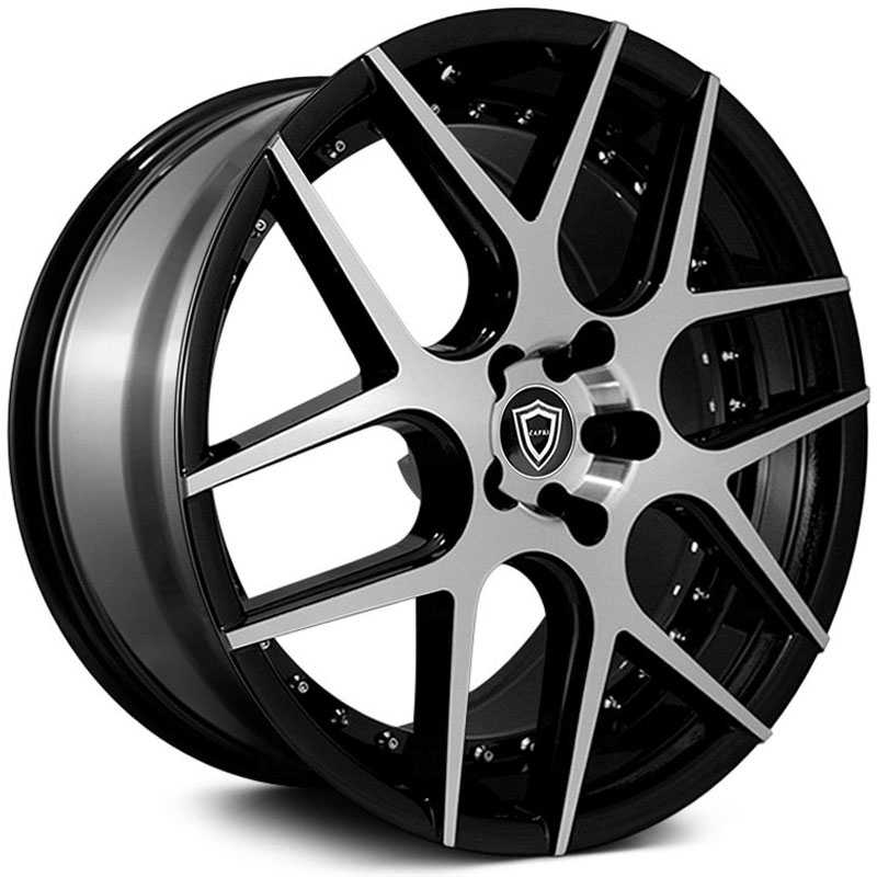 Capri Luxury Capri C0136  Wheels Gloss Black Machine