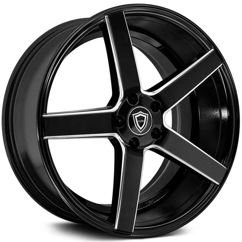 Capri Luxury Capri C5178  Wheels Gloss Black Milled