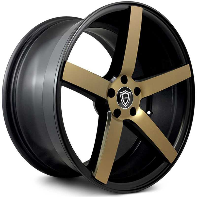 Capri Luxury Capri C5178  Wheels Matte Black w/ Bronze Face