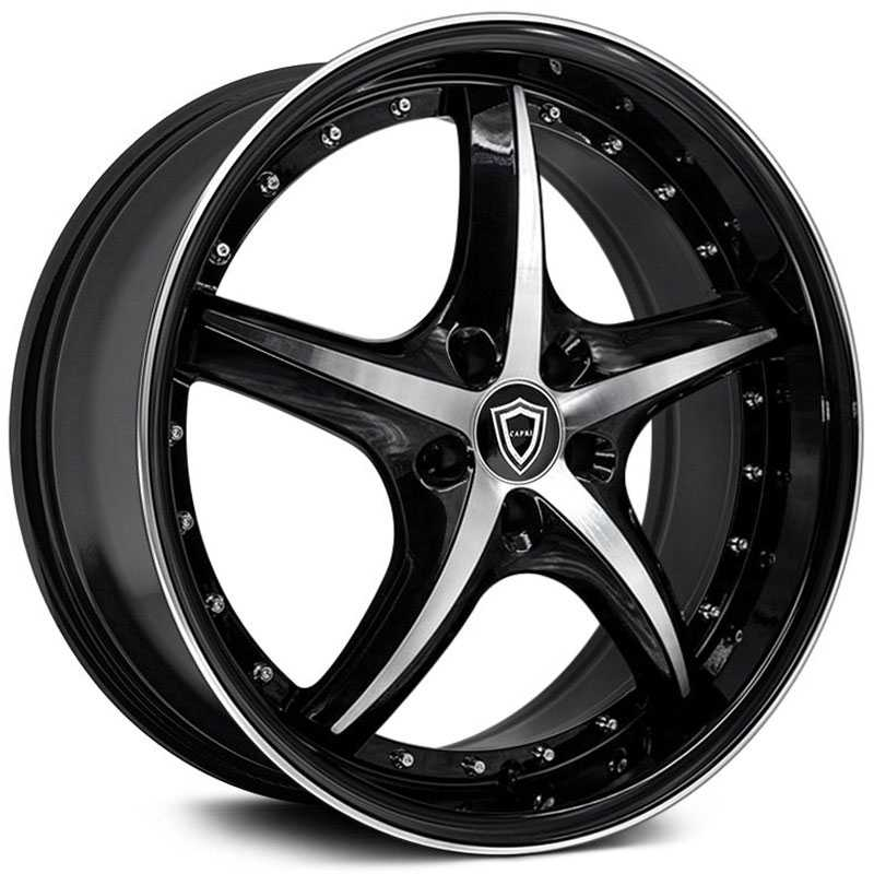 Capri Luxury Capri C5193  Wheels Gloss Black Machine