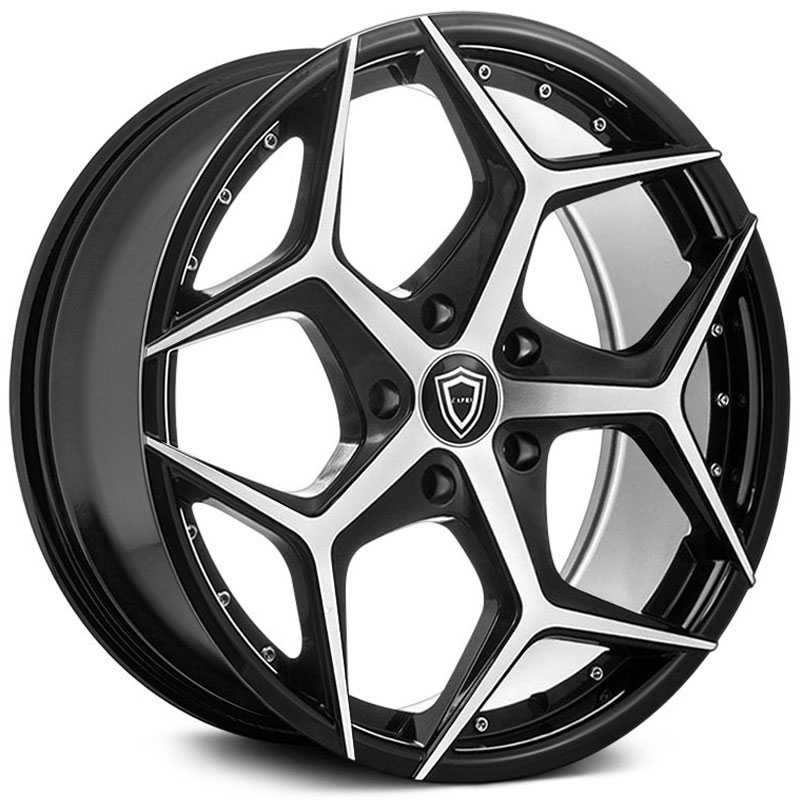 Capri Luxury Capri C5194  Wheels Gloss Black Machine