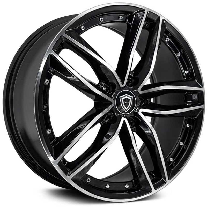 Capri Luxury Capri C5228  Wheels Gloss Black Machine
