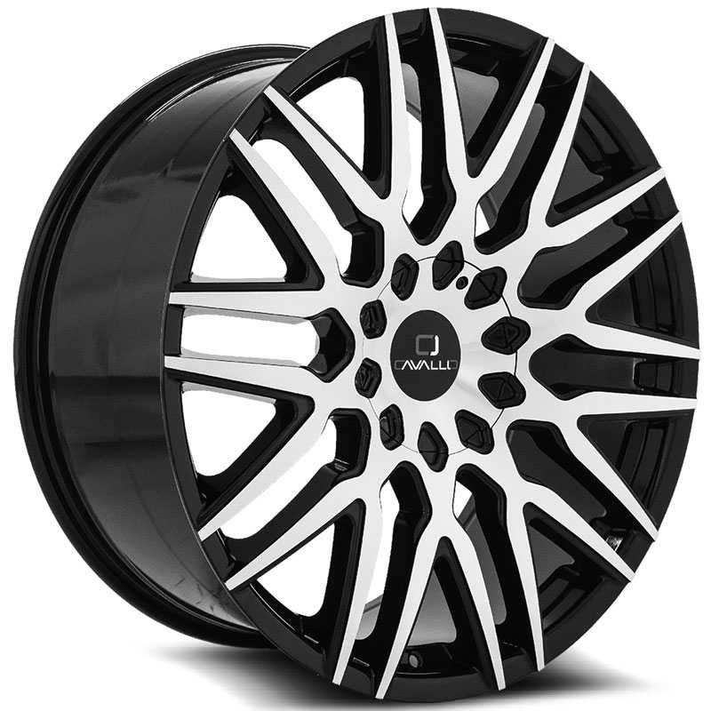 Cavallo CLV-24  Wheels Gloss Black Machined