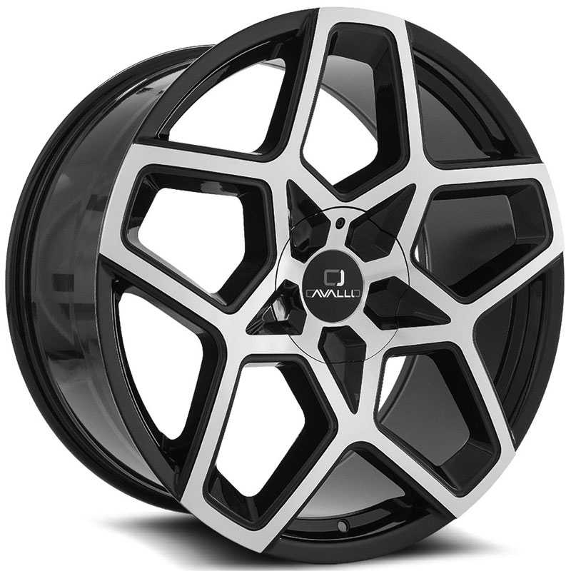 Cavallo CLV-25  Wheels Gloss Black Machined