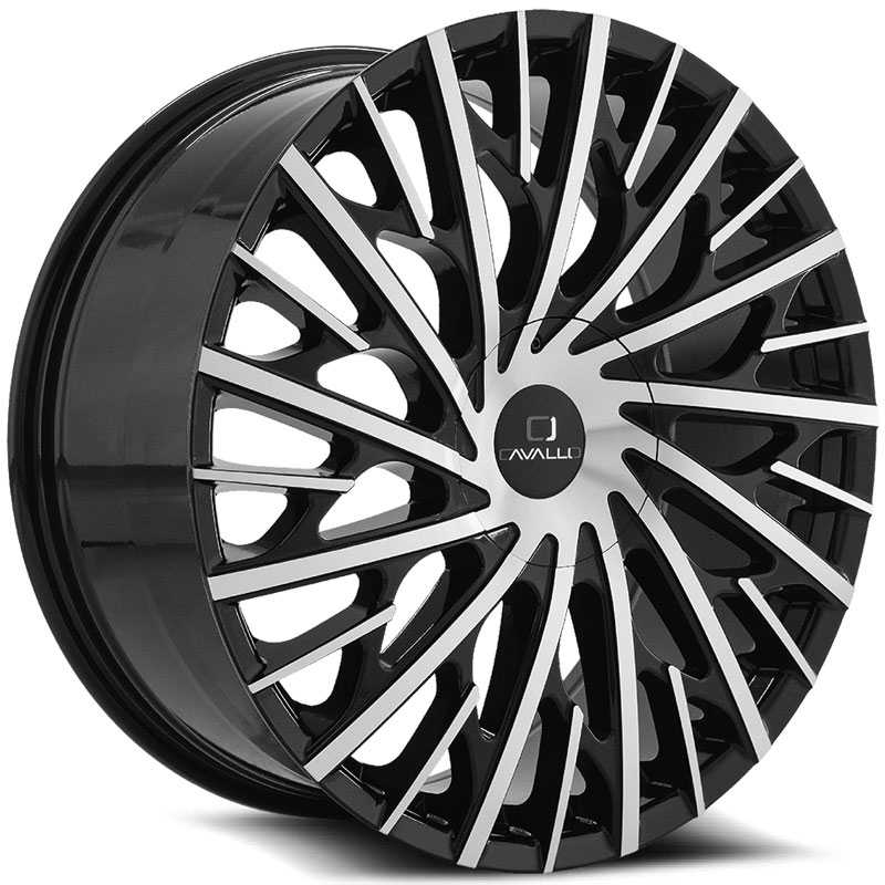 Cavallo CLV-30  Wheels Gloss Black Machined