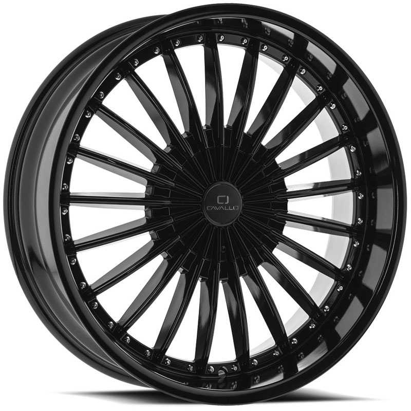 Cavallo CLV-32  Wheels Gloss Black Machined