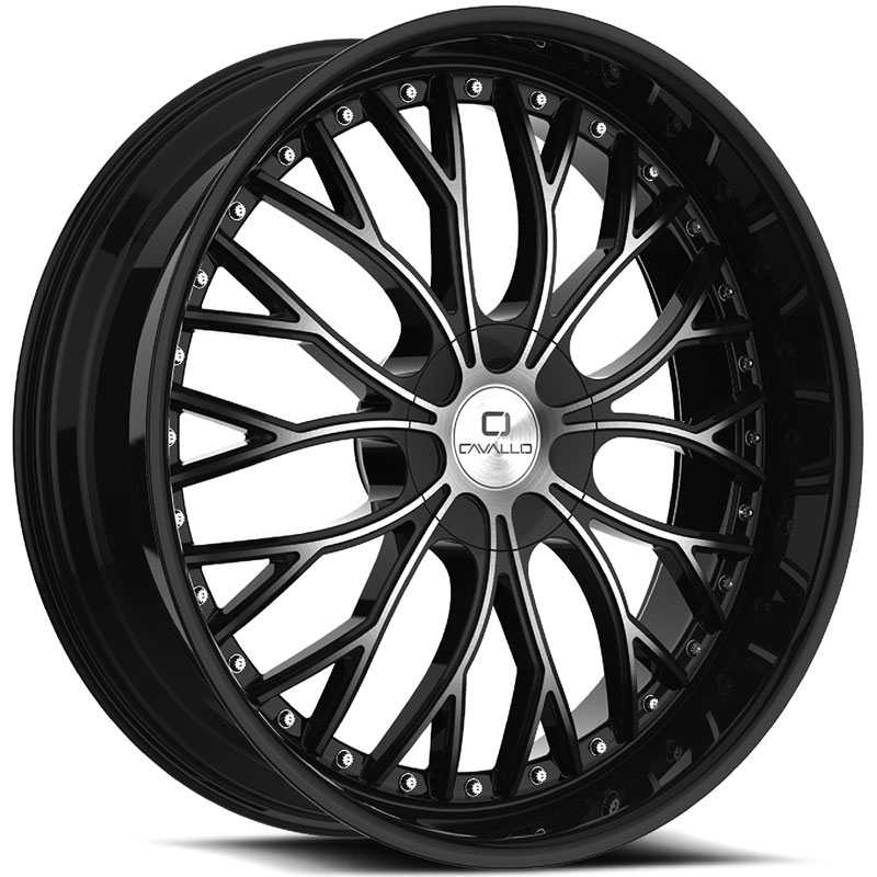 Cavallo CLV-33  Wheels Gloss Black Machined