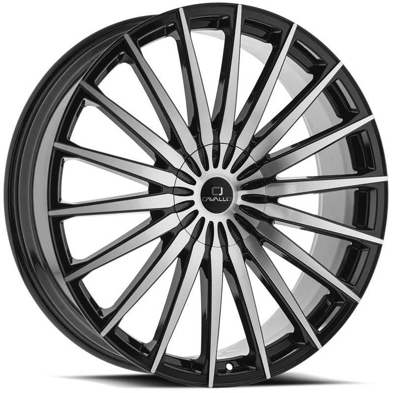 Cavallo CLV-34  Wheels Gloss Black Machined