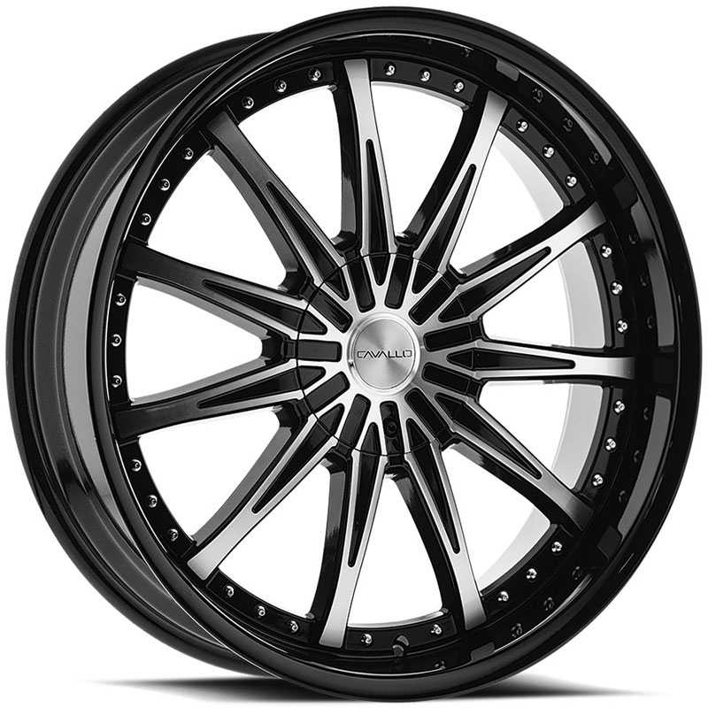 Cavallo CLV-35  Wheels Gloss Black Machined