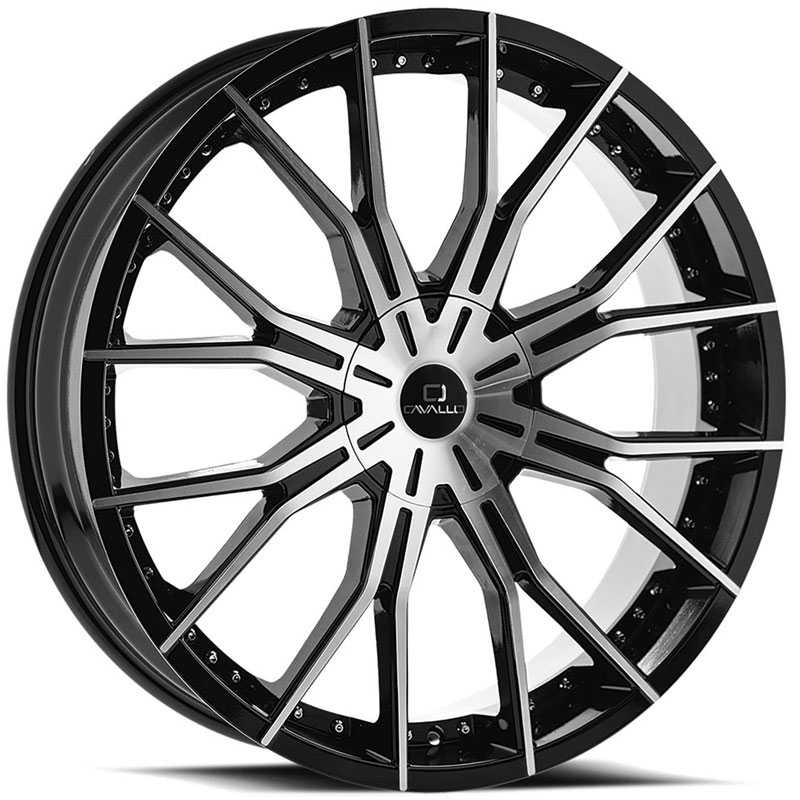 Cavallo CLV-36  Wheels Gloss Black Machined