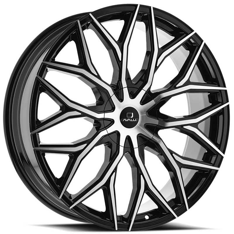 Cavallo CLV-37  Wheels Gloss Black Machined