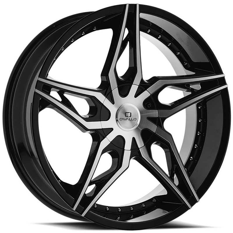 Cavallo CLV-38  Wheels Gloss Black Machined