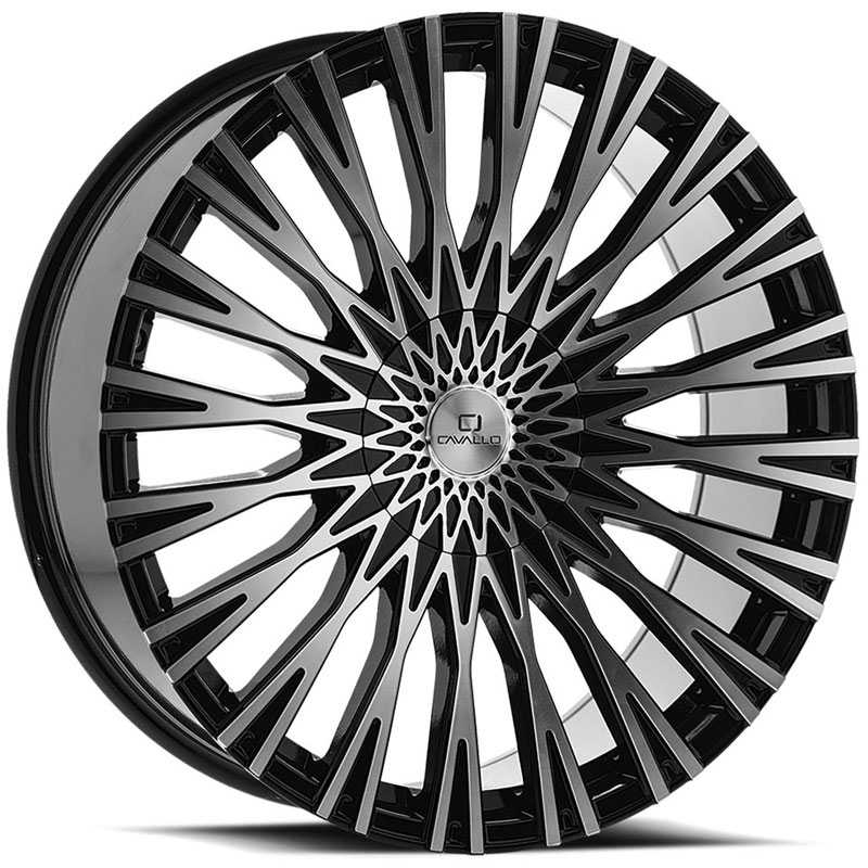 Cavallo CLV-40  Wheels Gloss Black Machined