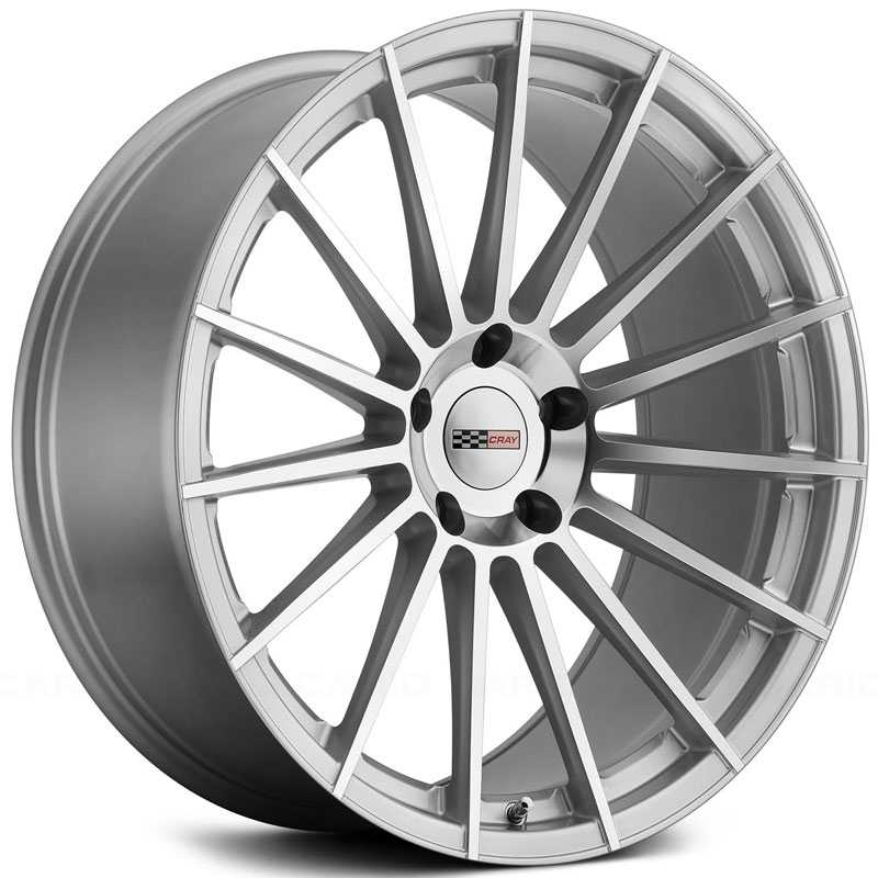 Cray Mako  Wheels Silver w/ Mirror Cut Face