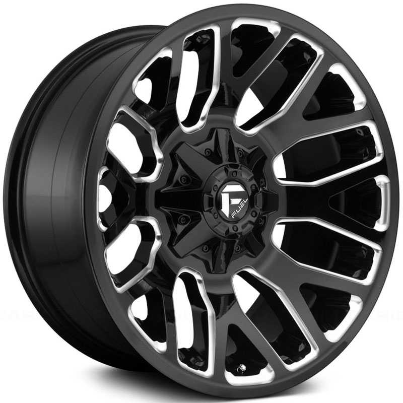 Fuel D623 Warrior  Wheels Gloss Black & Milled