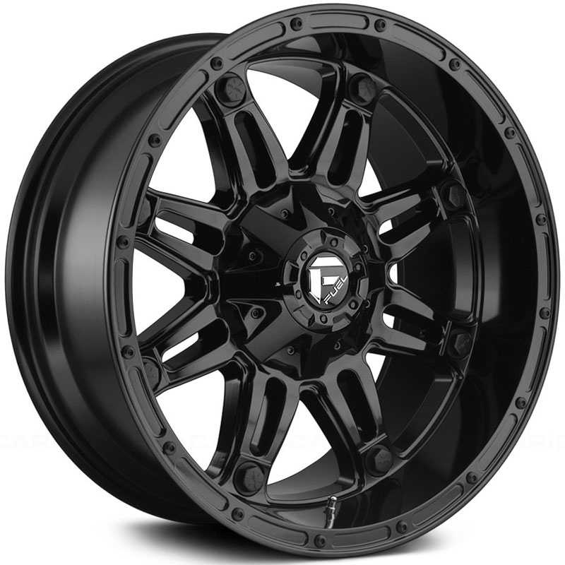 Fuel D625 Hostage  Wheels Gloss Black