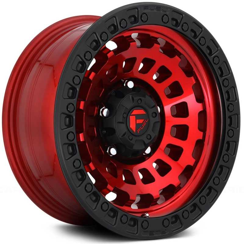 Fuel D632 Zephyr  Wheels Candy Red w/ Matte Black Ring