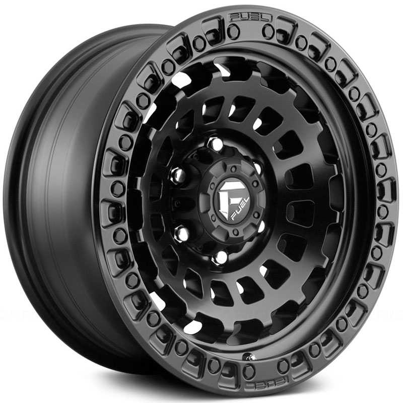 Fuel D633 Zephyr  Wheels Matte Black