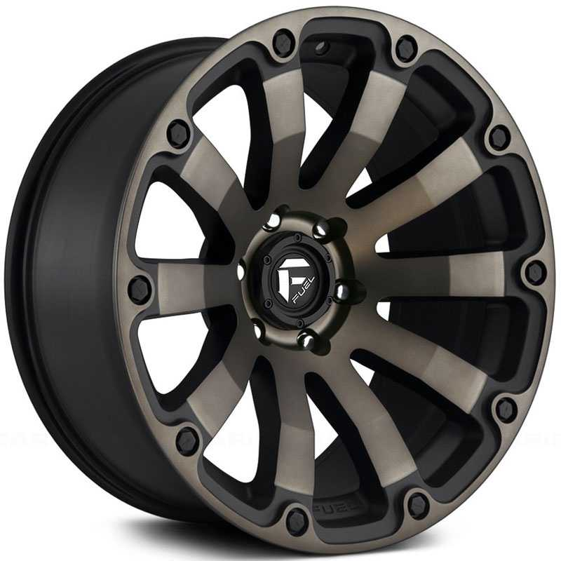 Fuel D636 Diesel  Wheels Black & Machined w/ Dark Tint