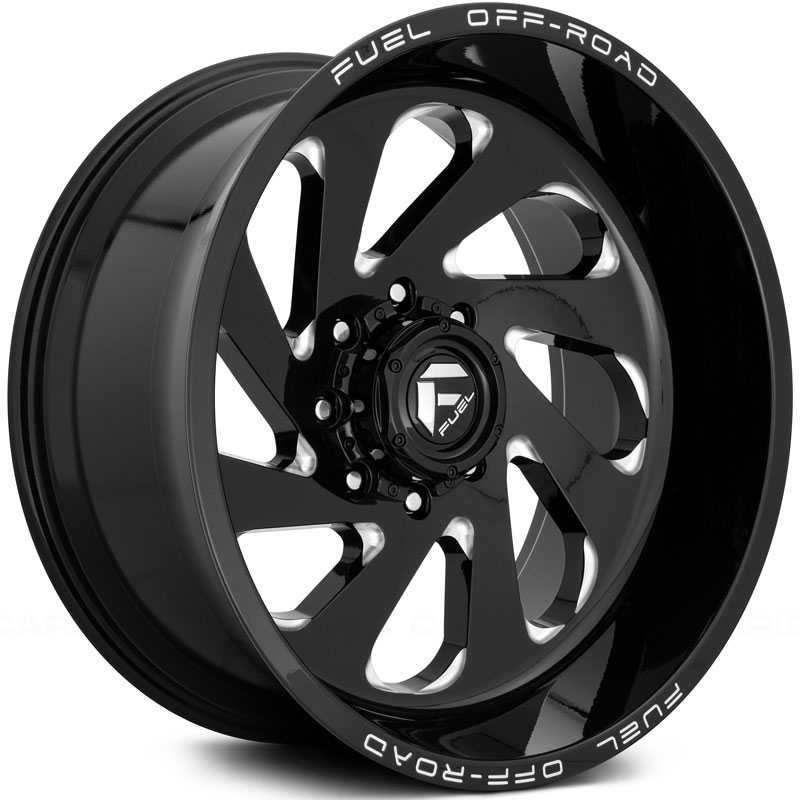 Fuel D637 Vortex  Wheels Gloss Black & Milled
