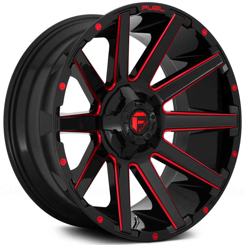D643 Contra Gloss Black w Candy Red Accents