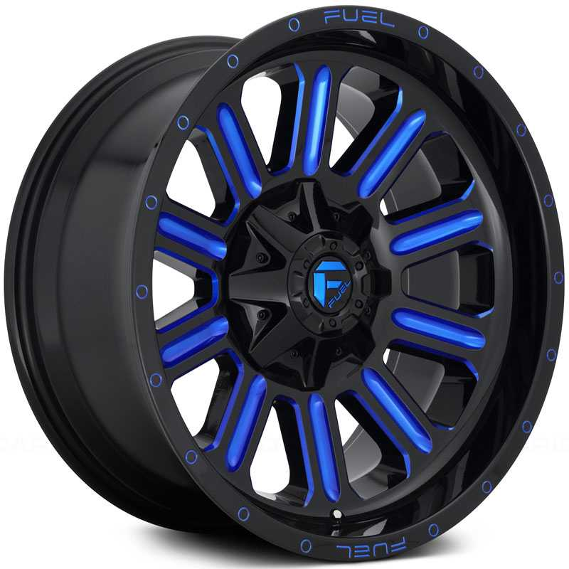 D646 Hardline Gloss Black w/ Candy Blue Accents