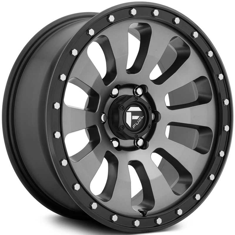 Fuel D648 Tactic  Wheels Anthracite w/ Black Lip