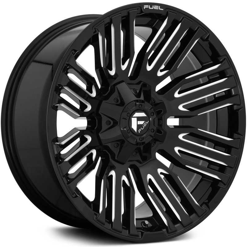 Fuel D649 Schism  Wheels Gloss Black & Milled