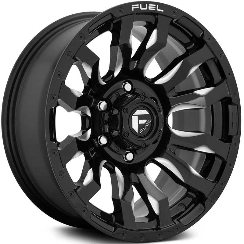 Fuel D673 Blitz  Wheels Gloss Black & Milled