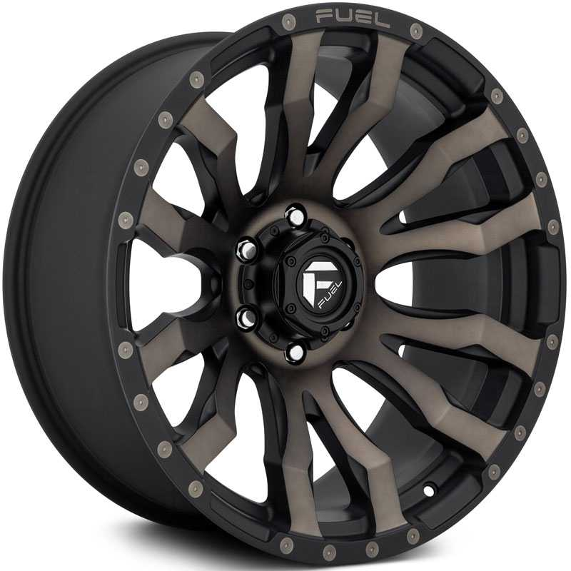 Fuel D674 Blitz  Wheels Matte Black Machined w/ Dark Tint