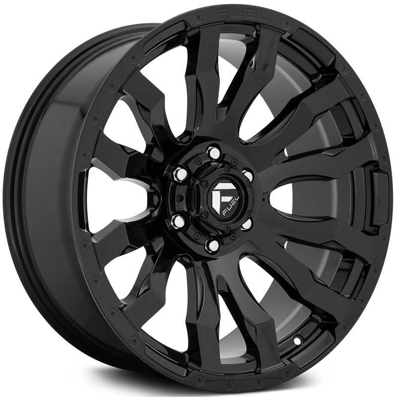 Fuel D675 Blitz  Wheels Gloss Black