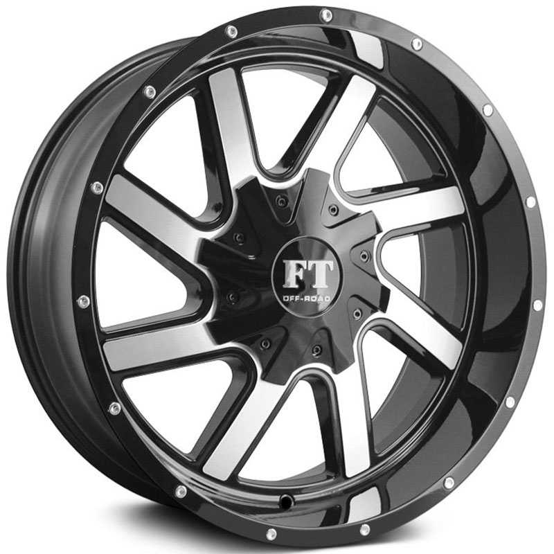 Full Throttle Full Throttle FT1  Wheels Gloss Black Machined Face