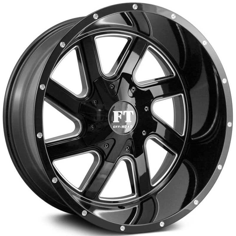 Full Throttle Full Throttle FT1  Wheels Gloss Black Milled