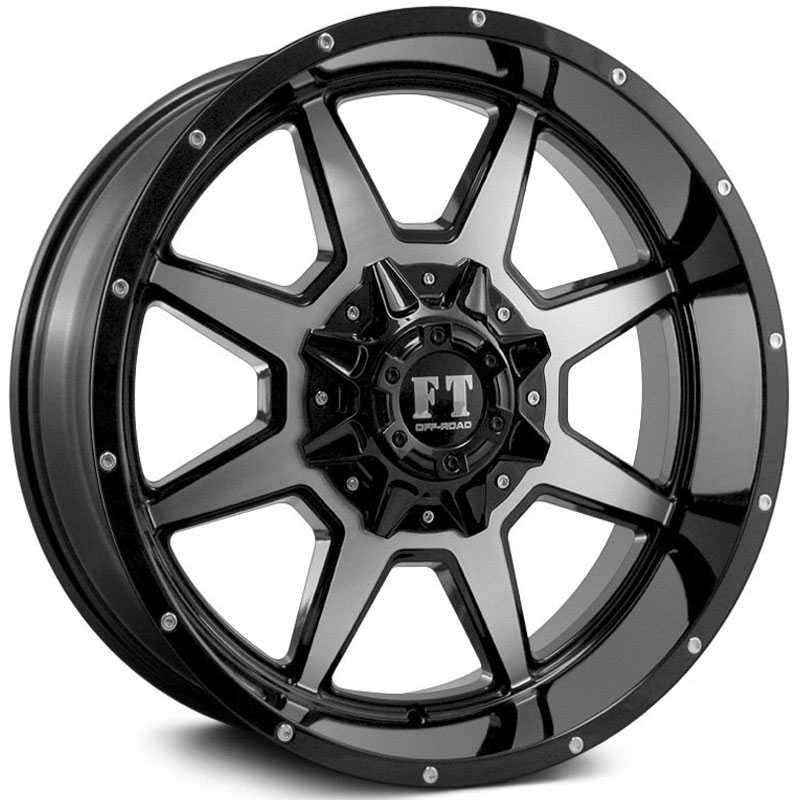 Full Throttle Full Throttle FT2  Wheels Gloss Black Machined Face