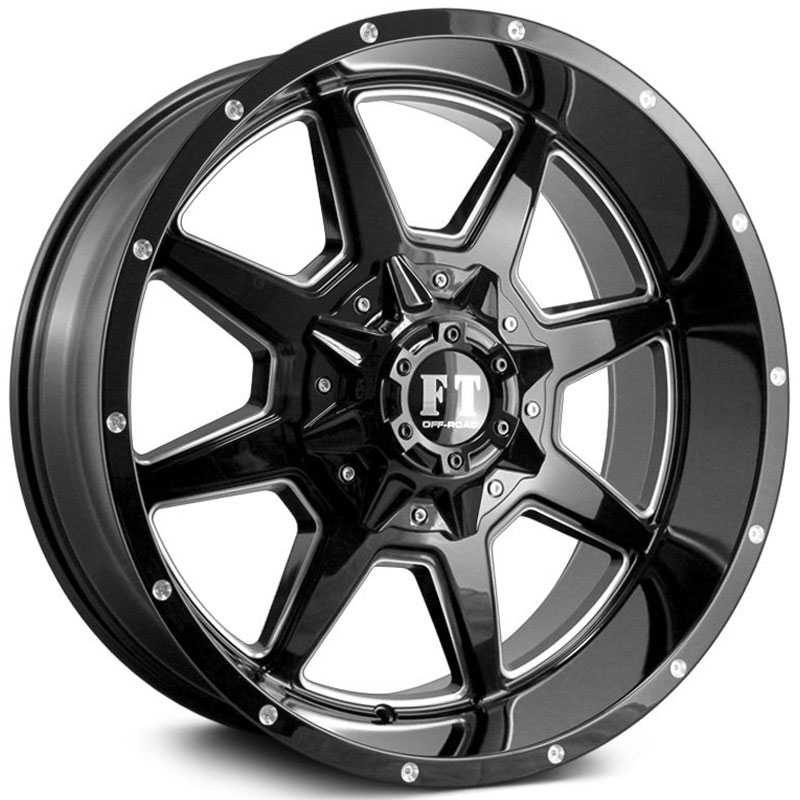 Full Throttle Full Throttle FT2  Wheels Gloss Black Milled