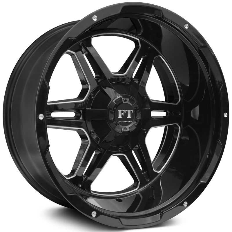 Full Throttle Full Throttle FT3  Wheels Gloss Black Milled