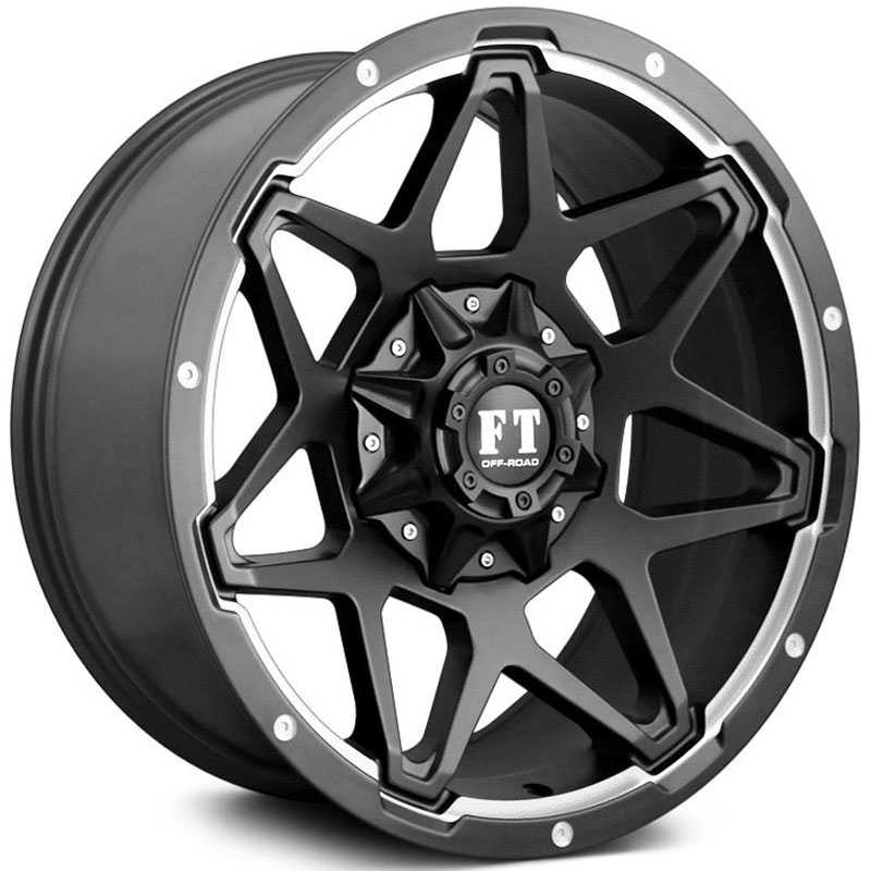 Full Throttle Full Throttle FT4  Wheels Satin Black Machined